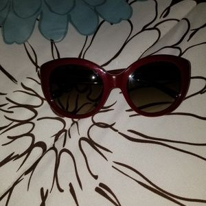 Burgandy and gold Authentic Tory Burch sunglasses